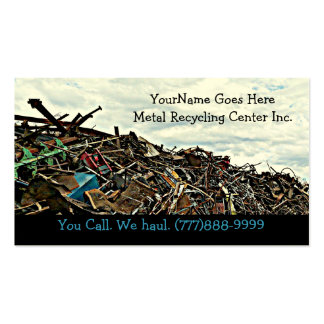 Scrap Metal Recycler Dump or Depot Center Pack Of Standard Business Cards