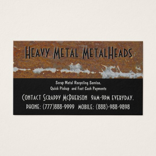 Scrap Metal Recycler Dump or Depot Centre Business Card