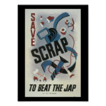 Scrap Metal World War 2 Poster