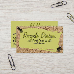 Cork business cards zazzle uk scrap paper on cork photograph border business card reheart Images