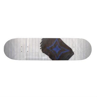Scrap paper skateboard deck