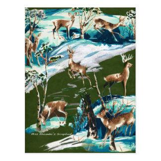 Scrapbook Deer Postcard