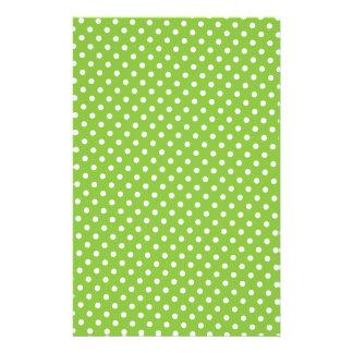 Scrapbook Paper - Green Polkadot