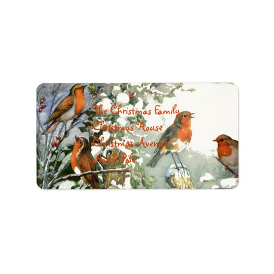 Scrapbook Robins Address Label