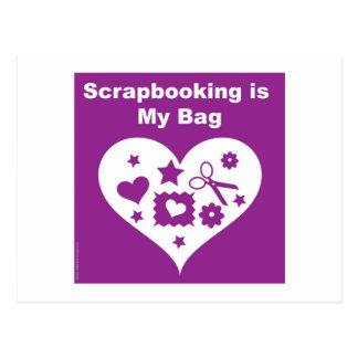 Scrapbooking Bag Postcard