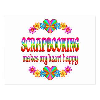 Scrapbooking Heart Happy Postcard