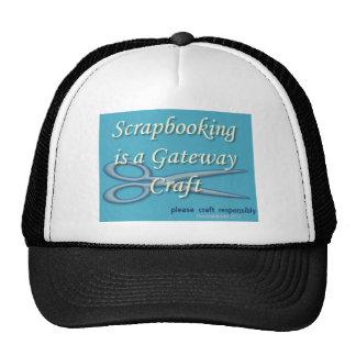 Scrapbooking is a gateway craft blue cap
