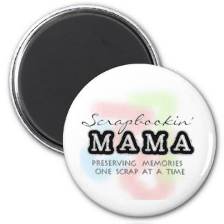 Scrapbooking Mama Tshirts and Gifts 6 Cm Round Magnet