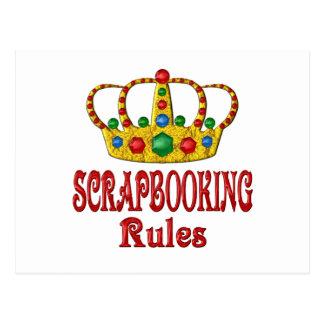 SCRAPBOOKING RULES POSTCARD
