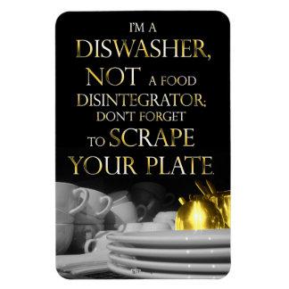 Scrape Your Plate 2 Dishwasher Magnet Golden