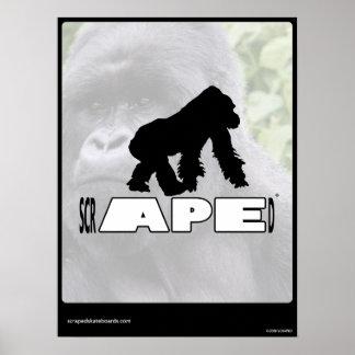 Scraped - APE Poster Print
