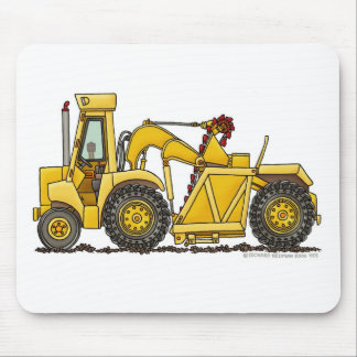 Scraper Dirt Mover Excavator Construction Mouse Pa Mouse Pad