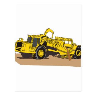 Scraper Truck Postcard