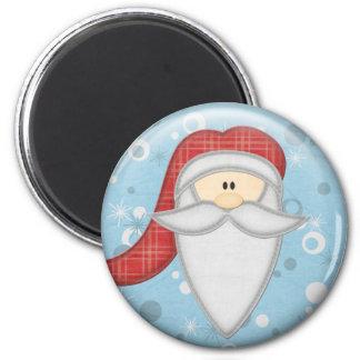 Scrappy Christmas Santa Claus Magnet