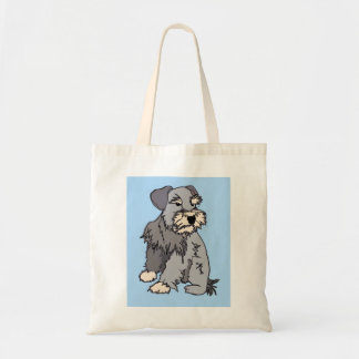 Scrappy Miniature Schnauzer Blue Bag