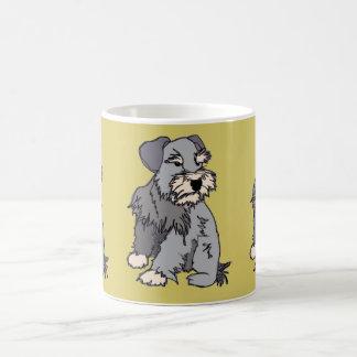 Scrappy Miniature Schnauzer Mustard Mug