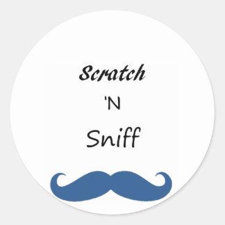 Scratch 'N Sniff Classic Round Sticker