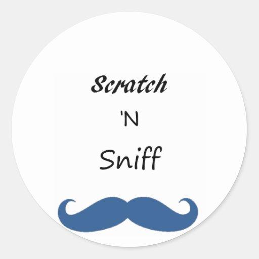 Scratch 'N Sniff Round Sticker