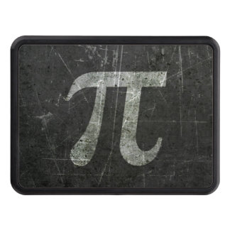 Scratched and Aged Dark Gray Pi Math Symbol Tow Hitch Covers