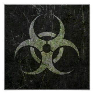 Scratched and Worn Biohazard Symbol Posters
