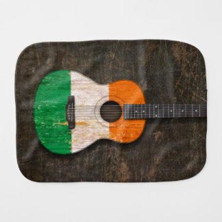 Scratched and Worn Irish Flag Acoustic Guitar Burp Cloth