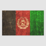 Scratched and Worn Vintage Afghan Flag Stickers