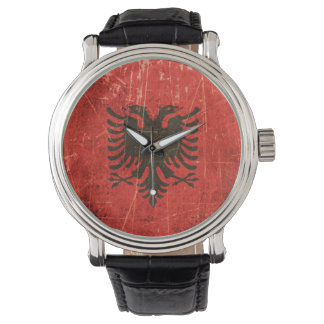 Scratched and Worn Vintage Albanian Flag Watch