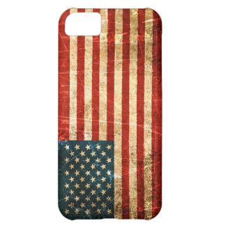Scratched and Worn Vintage American Flag iPhone 5C Case