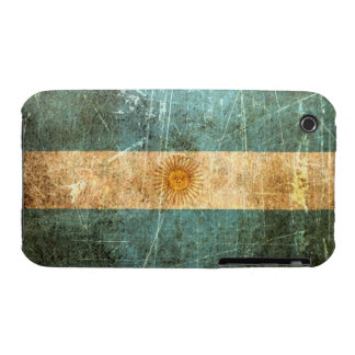 Scratched and Worn Vintage Argentinian Flag iPhone 3 Case-Mate Cases