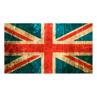 Scratched and Worn Vintage British Flag Pack Of Standard Business Cards