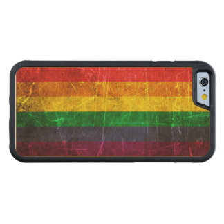 Scratched and Worn Vintage Gay Pride Rainbow Flag Carved® Maple iPhone 6 Bumper Case