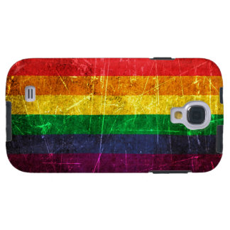 Scratched and Worn Vintage Gay Pride Rainbow Flag Galaxy S4 Case