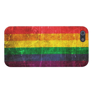 Scratched and Worn Vintage Gay Pride Rainbow Flag iPhone 5/5S Covers