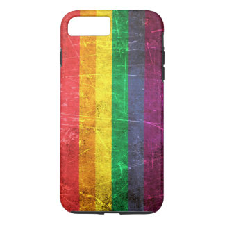 Scratched and Worn Vintage Gay Pride Rainbow Flag iPhone 7 Plus Case