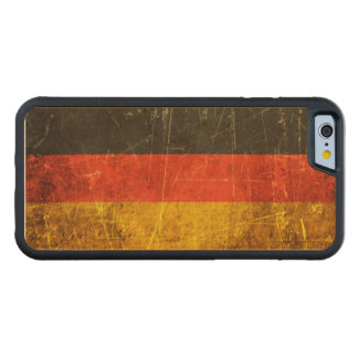 Scratched and Worn Vintage German Flag Carved® Maple iPhone 6 Bumper