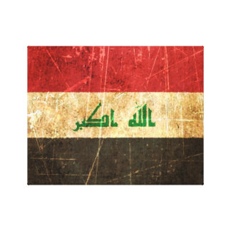 Scratched and Worn Vintage Iraqi Flag Canvas Print