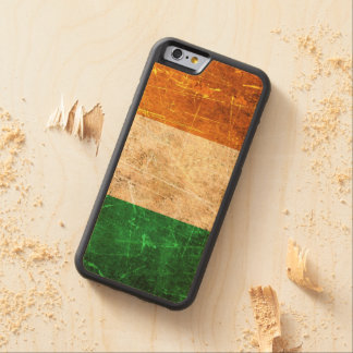 Scratched and Worn Vintage Irish Flag Carved Maple iPhone 6 Bumper Case