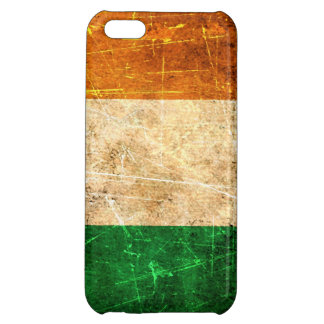 Scratched and Worn Vintage Irish Flag iPhone 5C Cases