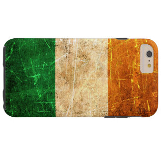 Scratched and Worn Vintage Irish Flag Tough iPhone 6 Plus Case