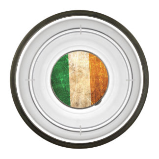 Scratched and Worn Vintage Irish Flag Pet Bowl