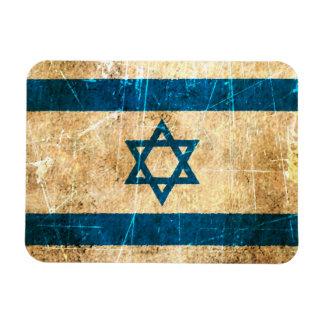 Scratched and Worn Vintage Israeli Flag Magnet