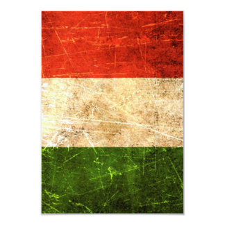 Scratched and Worn Vintage Italian Flag Card