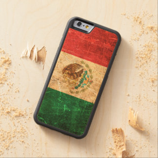 Scratched and Worn Vintage Mexican Flag Carved® Maple iPhone 6 Bumper