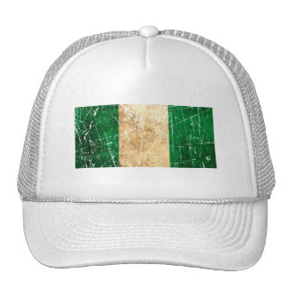 Scratched and Worn Vintage Nigerian Flag Hats