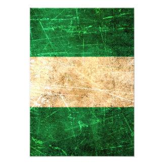 Scratched and Worn Vintage Nigerian Flag Custom Invites