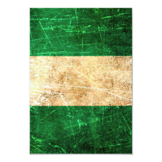 Scratched and Worn Vintage Nigerian Flag 3.5x5 Paper Invitation Card