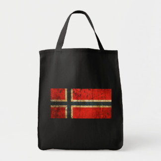 Scratched and Worn Vintage Norwegian Flag Tote Bag