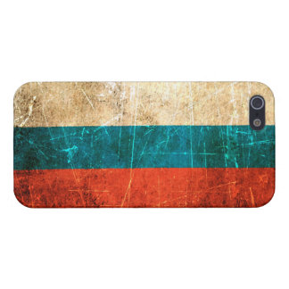 Scratched and Worn Vintage Russian Flag Case For iPhone 5/5S