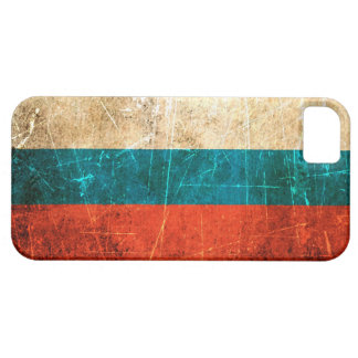 Scratched and Worn Vintage Russian Flag Case For The iPhone 5