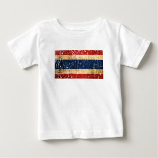 Scratched and Worn Vintage Thai Flag Baby T-Shirt